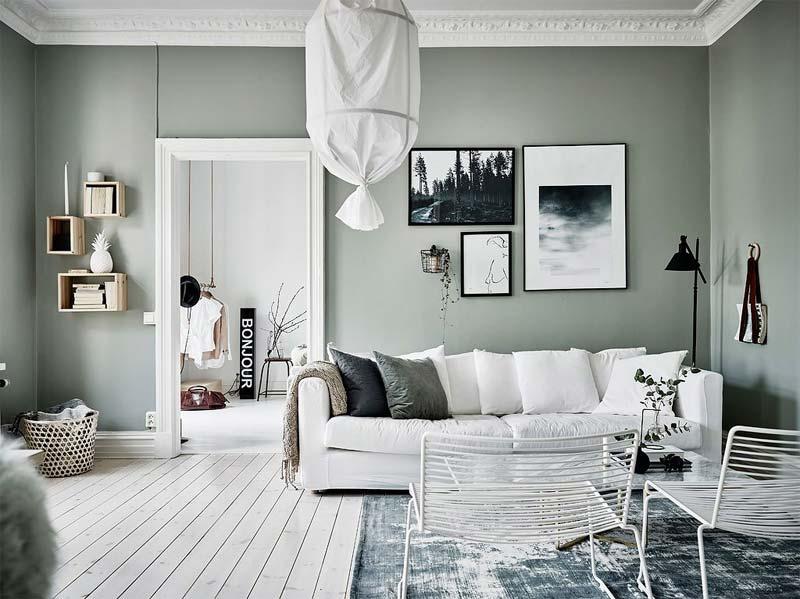 muur kleur kiezen interieur groen