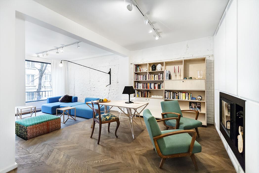 Nieuwe indeling en interieur voor oud appartement uit for Interieur appartement