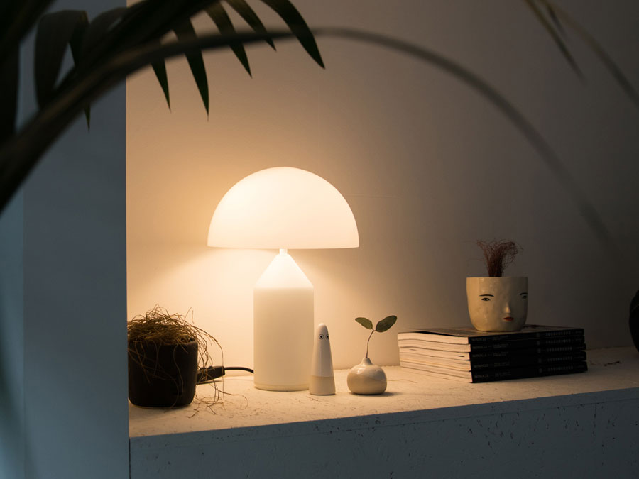 Oluce Atollo 50 Glass tafellamp