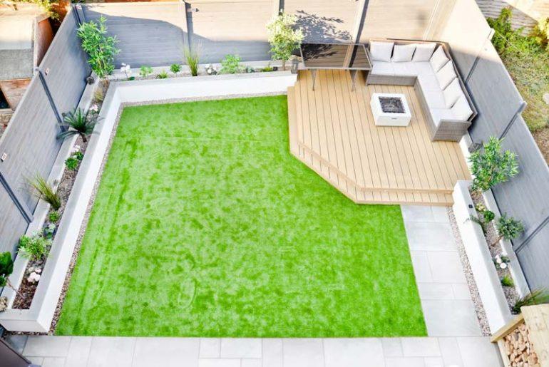 Onderhoudsvriendelijke en kindvriendelijke tuin van Alex