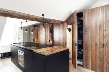 Open keuken in een klein appartement