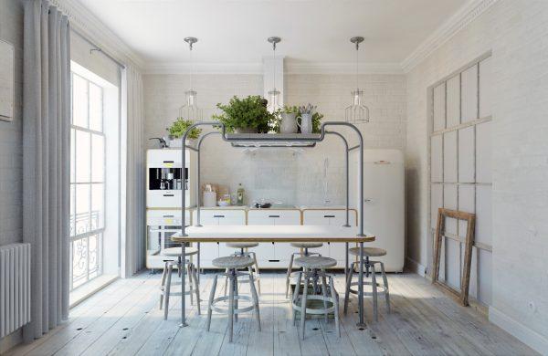 Open moderne keuken loft
