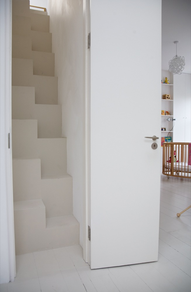 Een open trap dicht maken