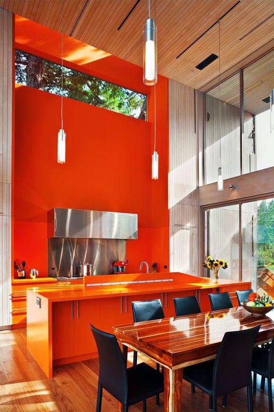 oranje-muur-keuken