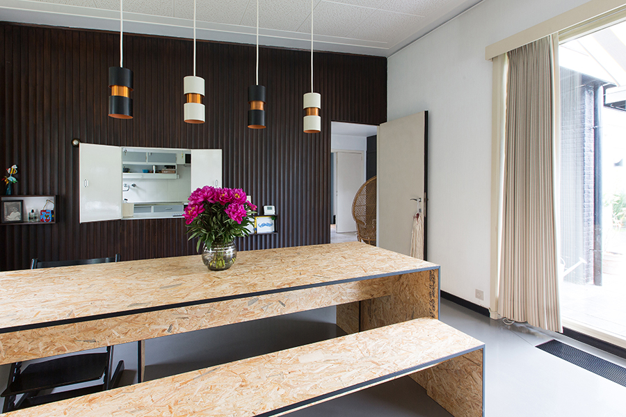 OSB in interieur eettafel