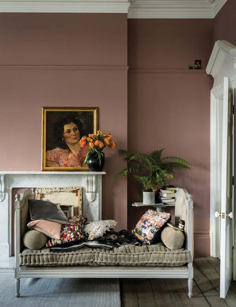 oud roze muur farrow ball sulking room pink