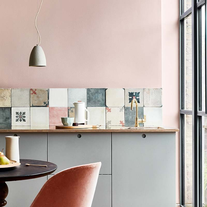 Oud roze muur Little greene - Light Peachblossom