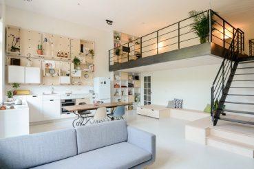 Van oude school tot loft appartement voor jong gezin