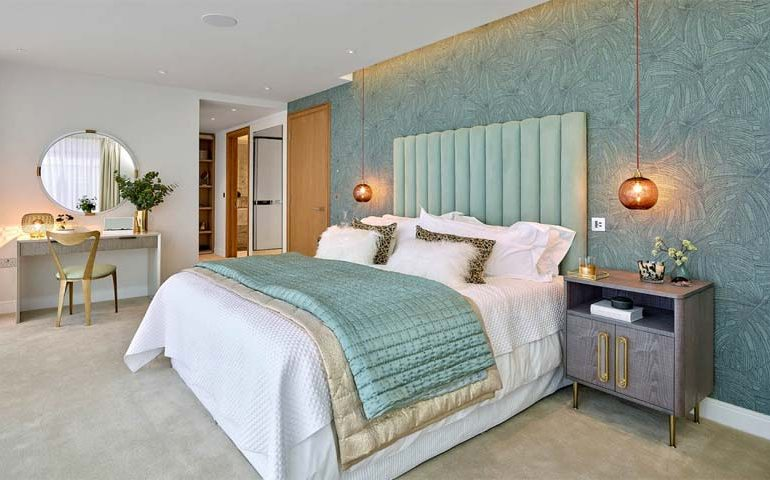 palm behang arte slaapkamer