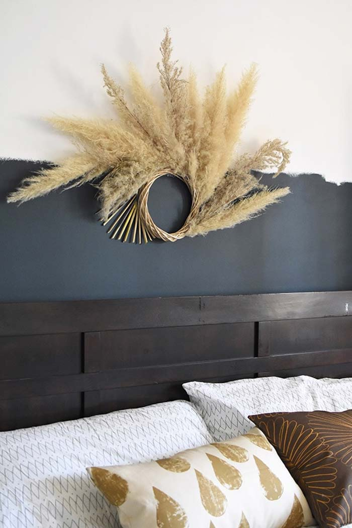 pampasgras krans slaapkamer