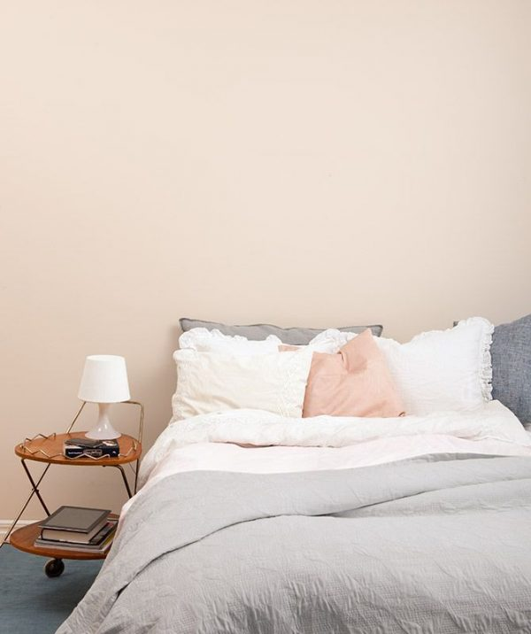 Pastel muur slaapkamer