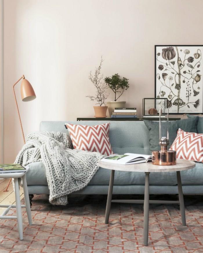 Grijze Bank Welke Kleur Muur: kleuren. Tips gezellige woonkamer ...