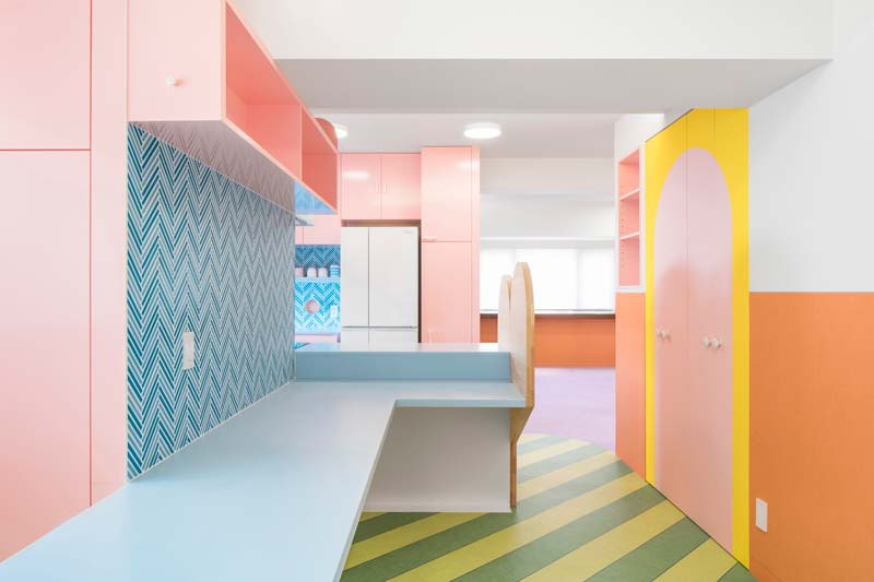 pastelkleuren Nagatacho Apartment