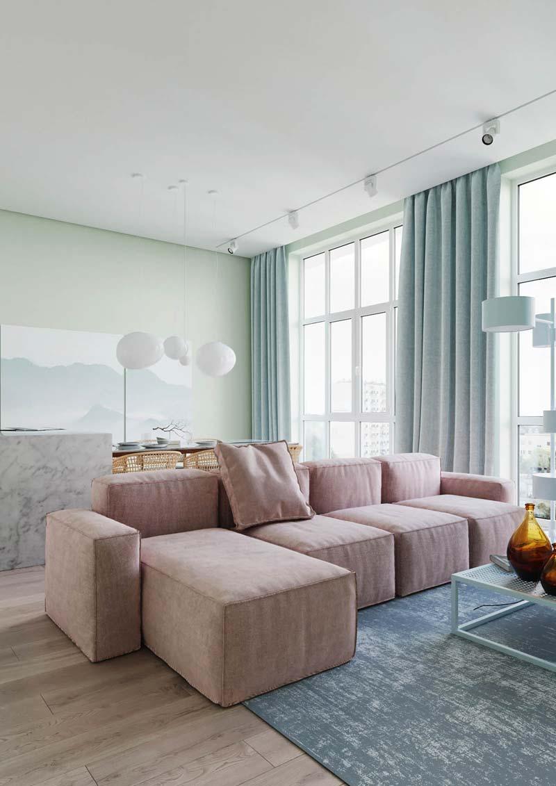 pastelkleuren kiev appartement