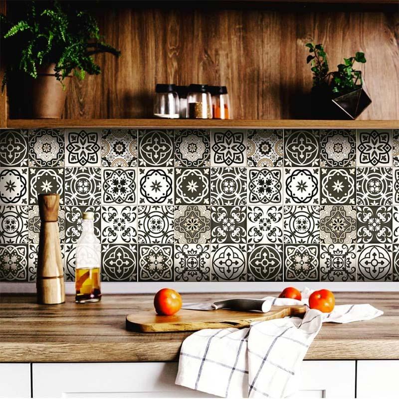 patchwork tegelstickers keuken achterwand