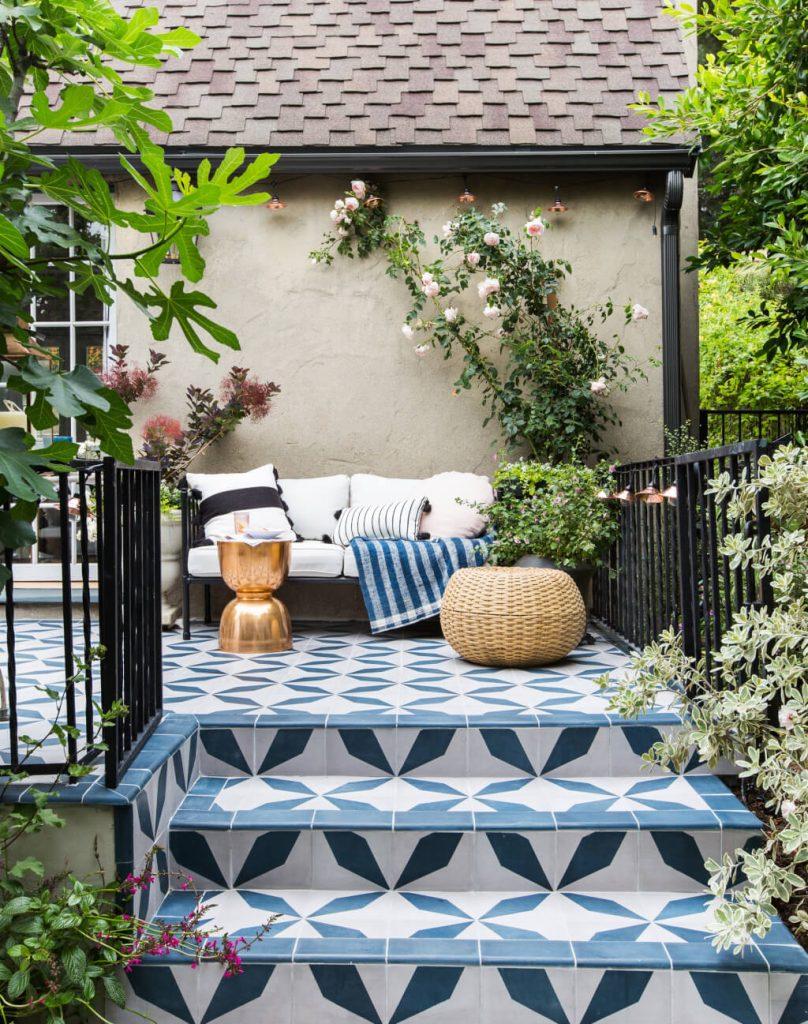 Het patio terras Emily Henderson