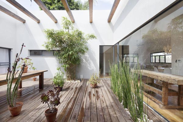 Patio tuin als middelpunt van het huis homease for Huis in de tuin
