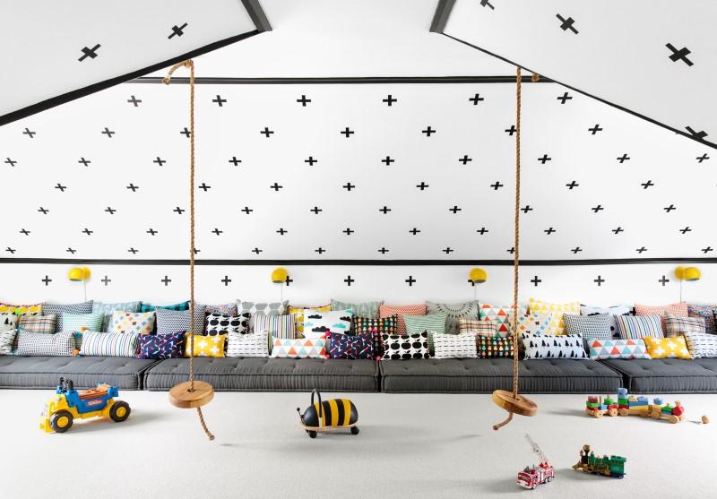 Een perfecte speelkamer op zolder