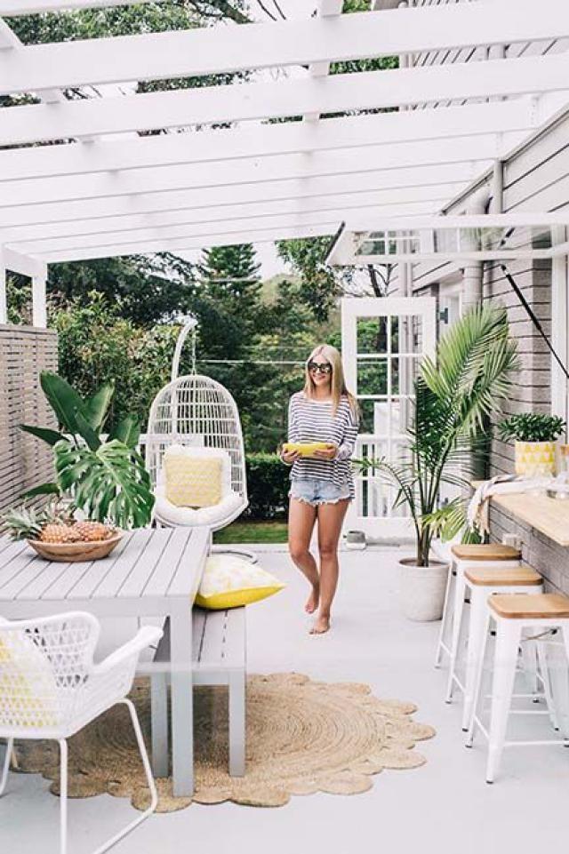 Een pergola in de tuin