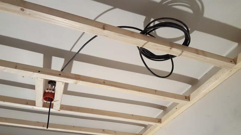 plafond verlagen inbouwspots bekabeling