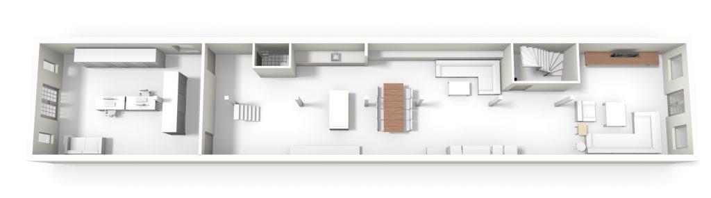 plattegrond-loft-appartement-amsterdam-leefruimte