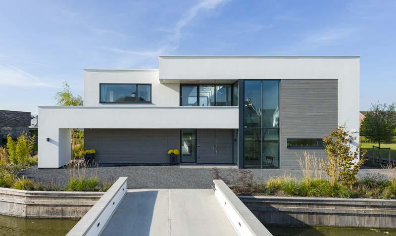prefab woning moderne witte villa