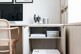 printer opbergen uitschuifbare plank