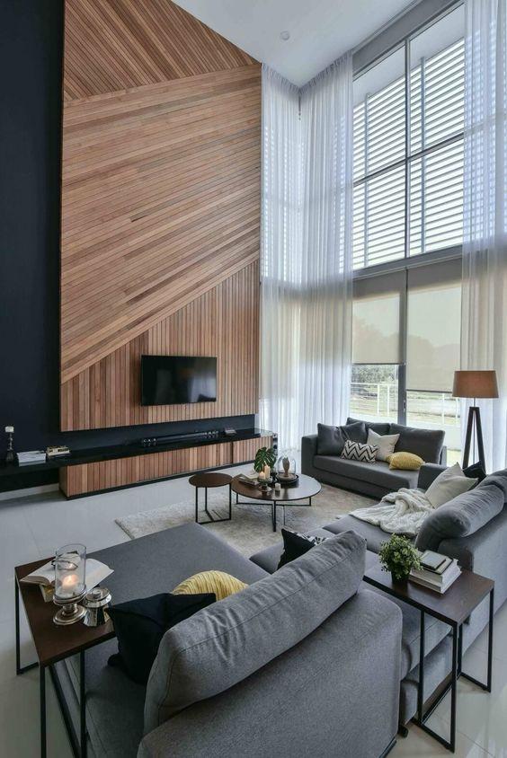 Raamdecoratie voor hoge ramen