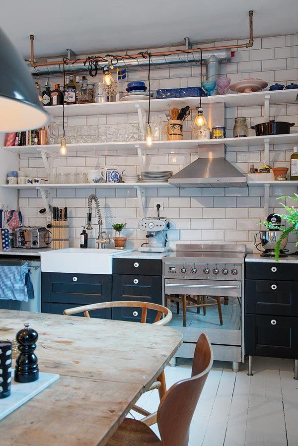 Rommelige vintage keuken