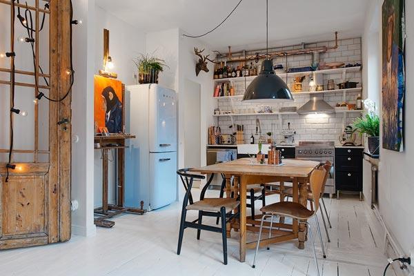 Chique Vintage Keuken : Rommelige vintage keuken homease