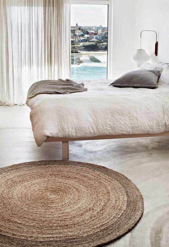 rond-vloerkleed-slaapkamer