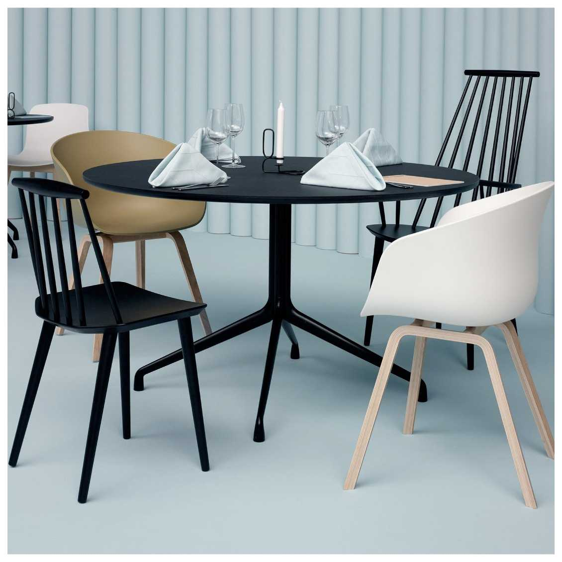 ronde eettafel hay about a table aat20