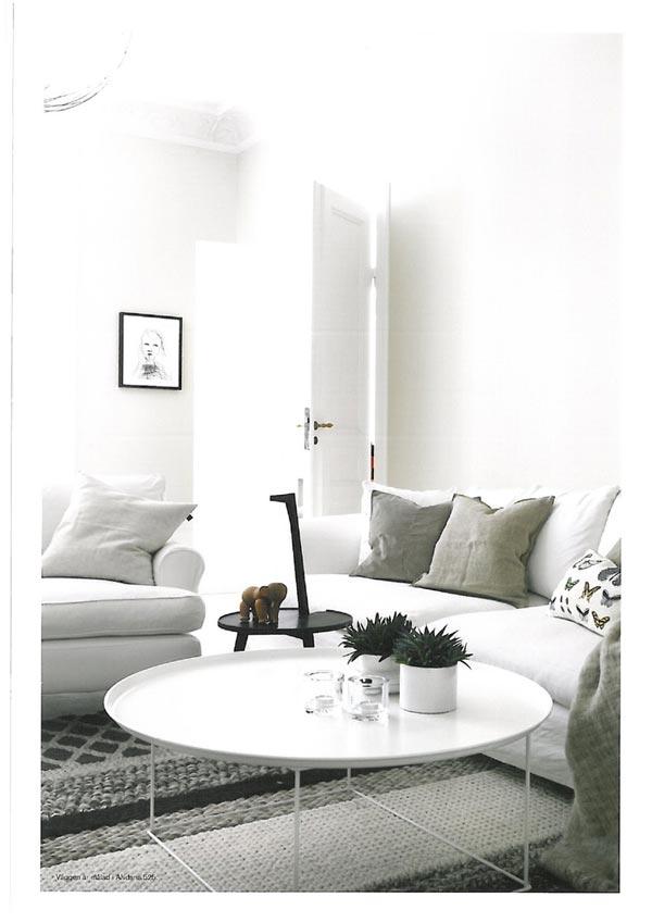 Witte Ronde Salon Tafel.Ronde Salontafel Homease