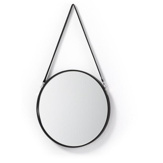 ronde-spiegel-leren-band