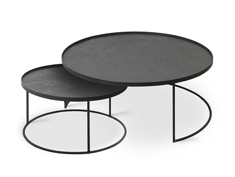 ronde zwarte salontafels ethnicraft