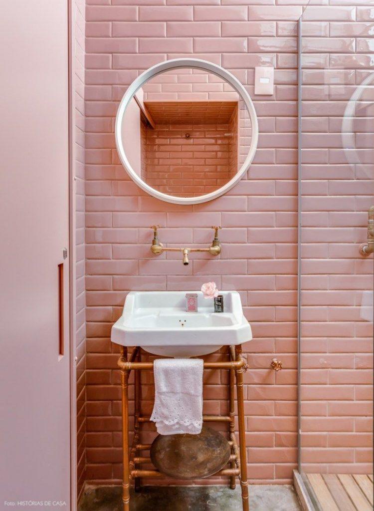 Roze badkamer