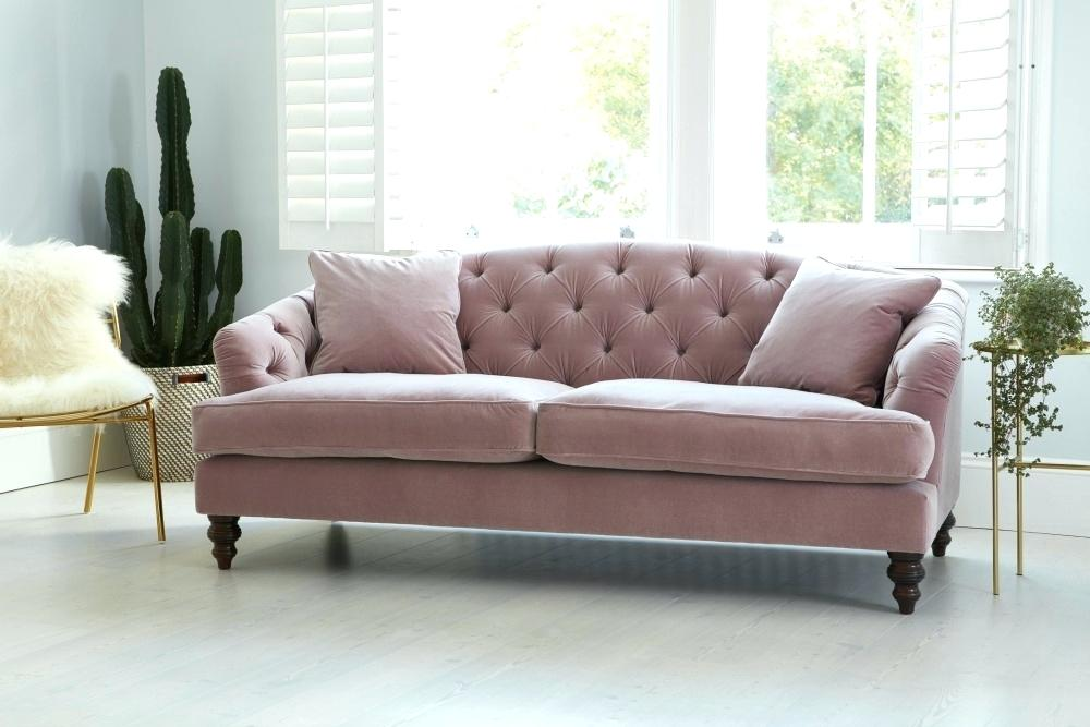 Roze fluwelen chesterfield bank