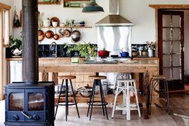 Rustieke open keuken