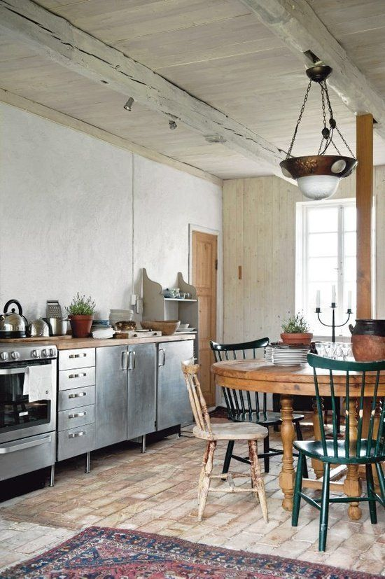 rvs-keuken-houten-keukenblad