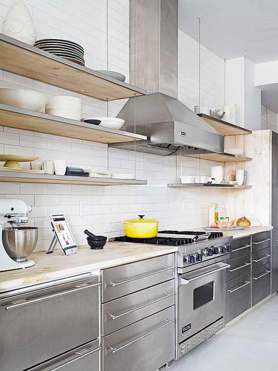 rvs-keuken-houten-werkblad