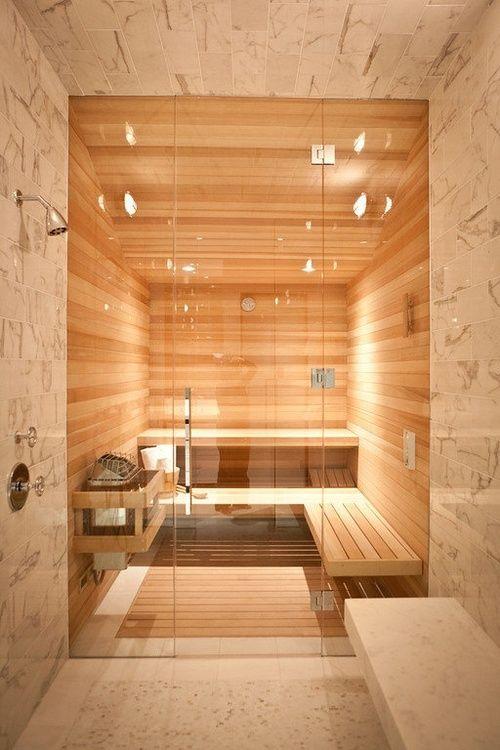 Sauna in huis inspiratie