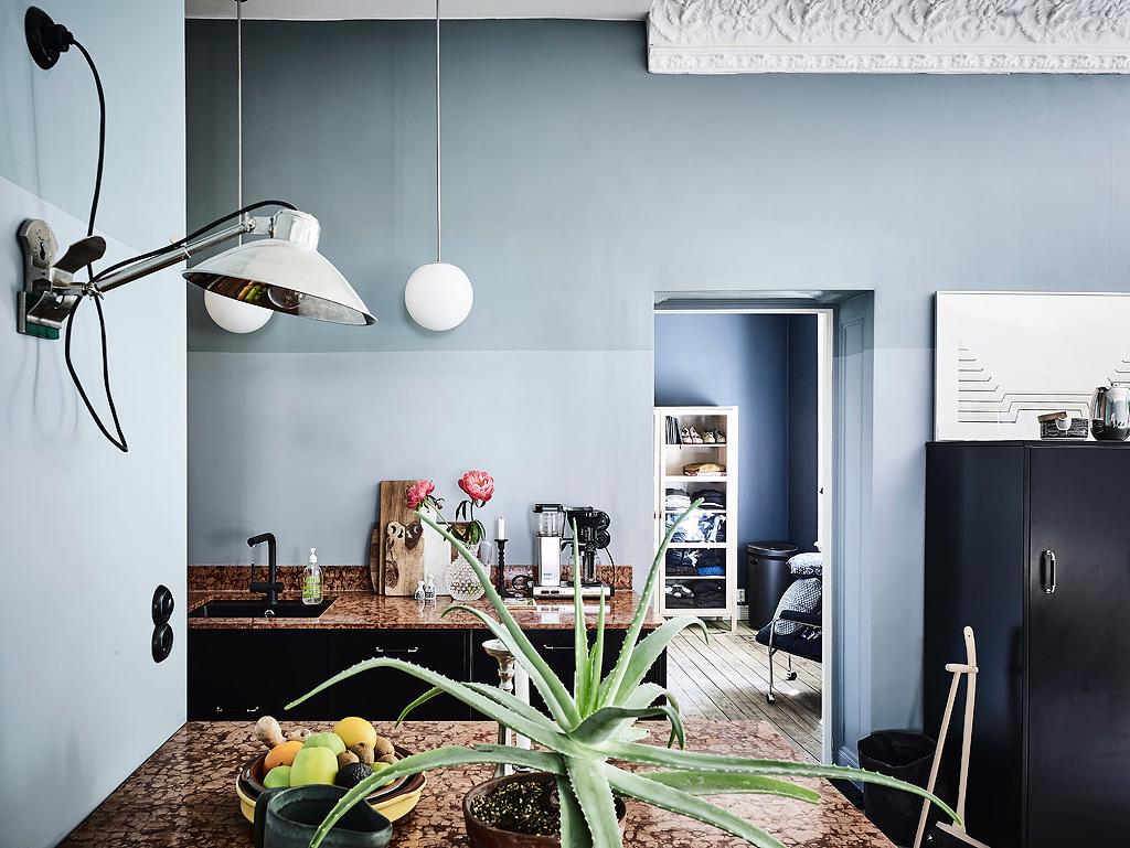Scandinavisch Interieur Sydney : Dit scandinavisch appartement heeft hele mooie gekleurde muren