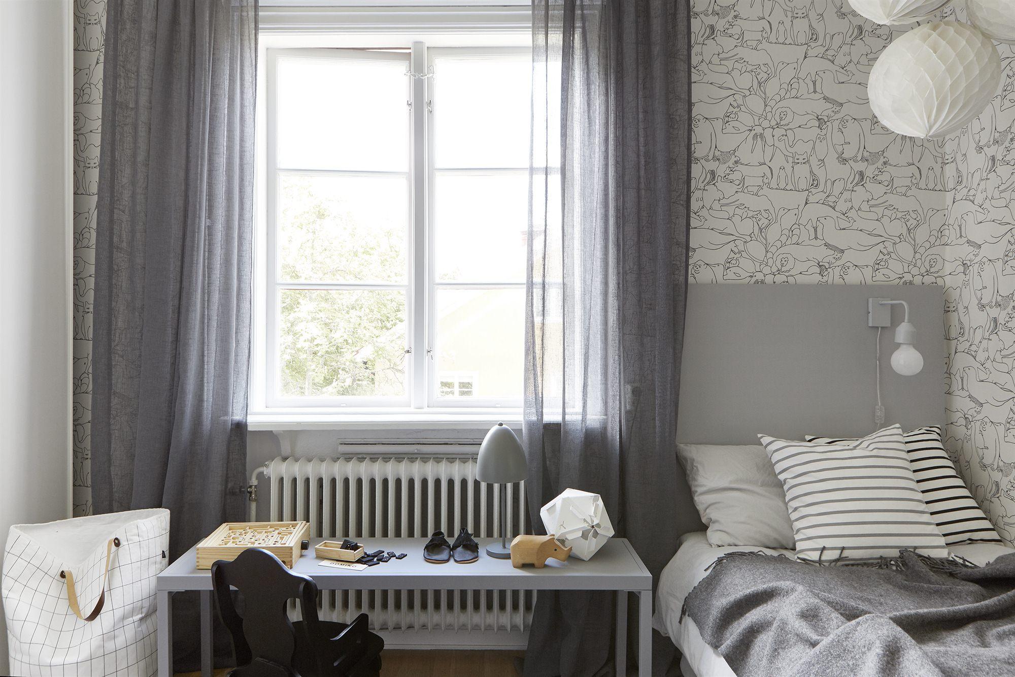 Interieur Ideeen Behang.Scandinavische Kinderkamer Met Leuk Dieren Behang Homease