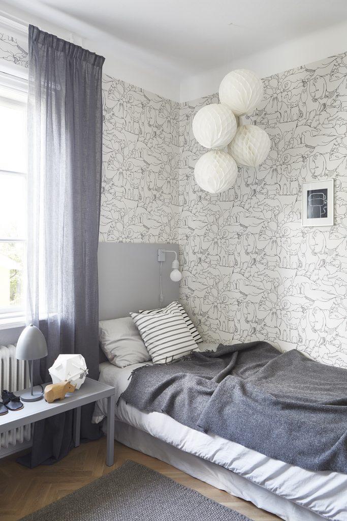 Leuk Behang Kinderkamer.Scandinavische Kinderkamer Met Leuk Dieren Behang Homease