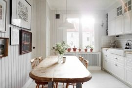 Scandinavische landelijke woonkeuken