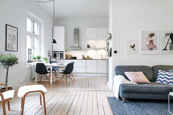 Scandinavische open keuken
