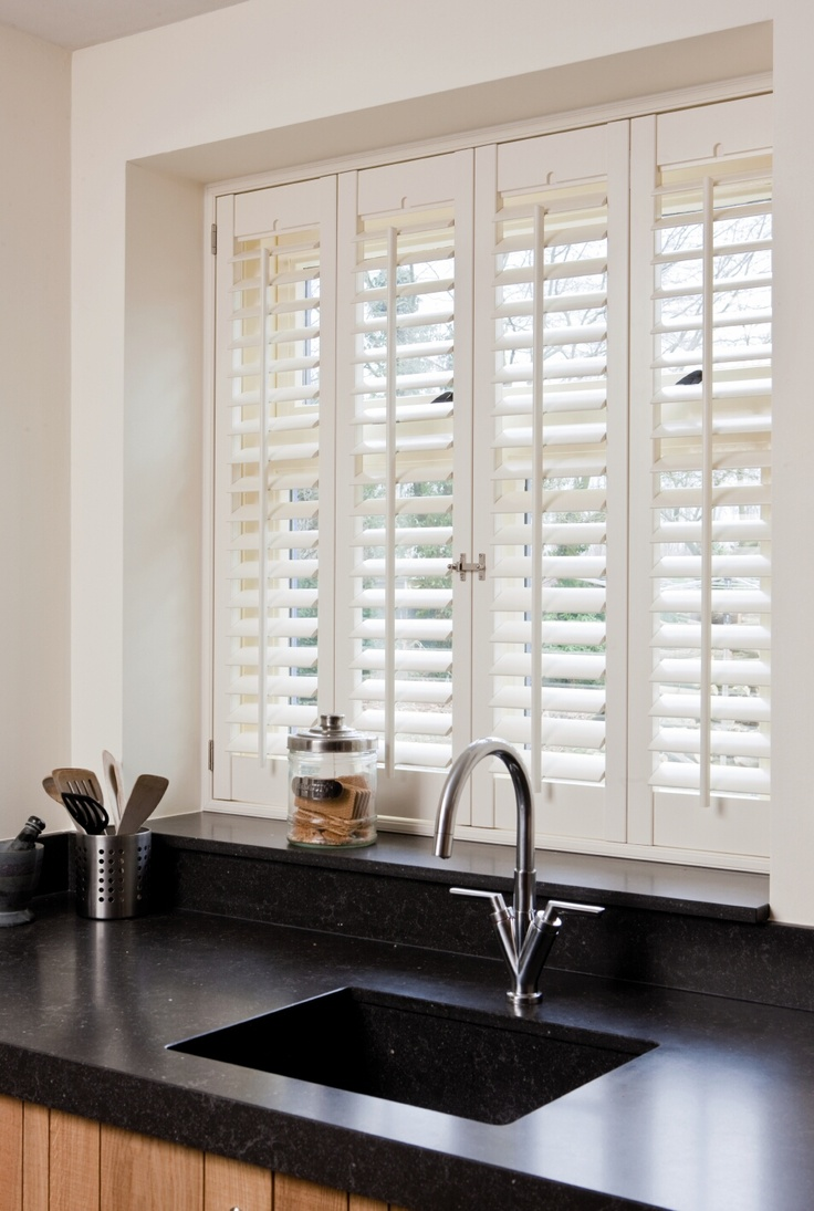 Raamdecoratie Voor De Keuken : Kitchen Window Shutters