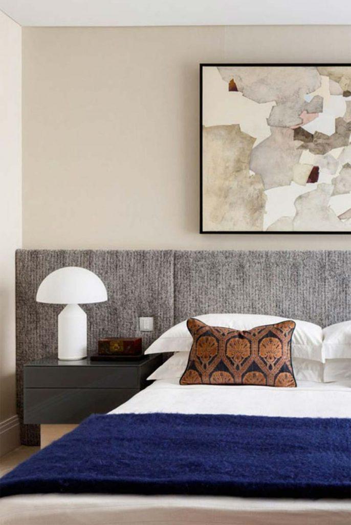 slaapkamer decoratie ideeën grote schilderij boven bed