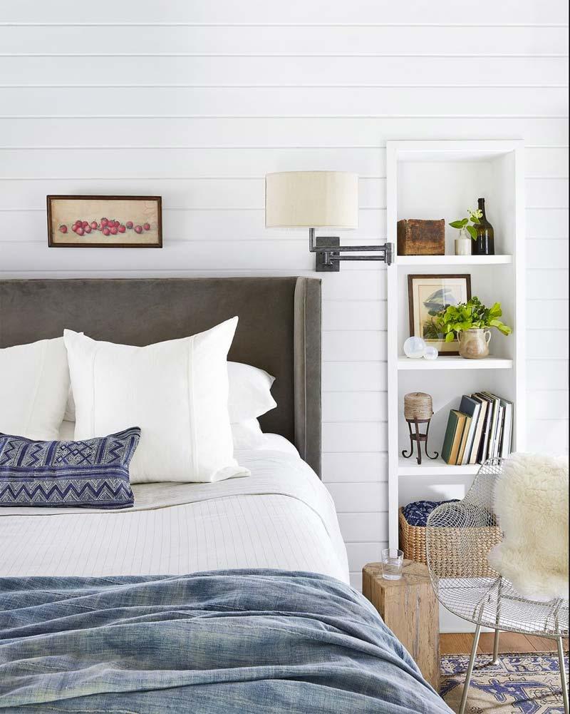 slaapkamer decoratie ideeën inbouwnachtkastje