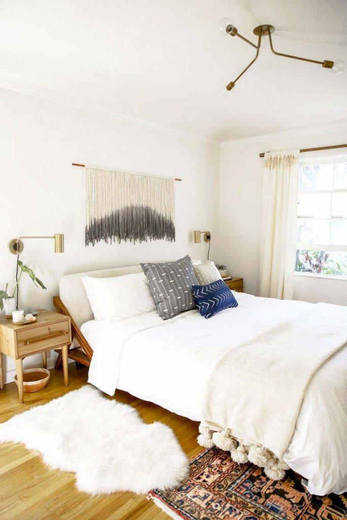 slaapkamer decoratie ideeen mix natuurlijke neutralen